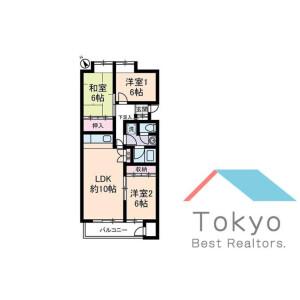 杉並區和田-3LDK公寓大廈 房間格局