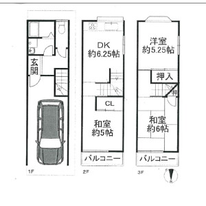 3DK {building type} in Kitakagaya - Osaka-shi Suminoe-ku Floorplan
