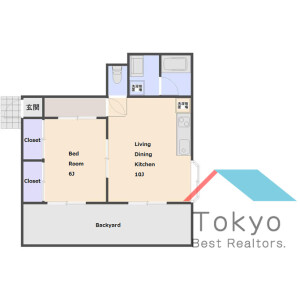 中野区野方-1LDK公寓 楼层布局