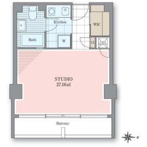 1K Mansion in Nishiazabu - Minato-ku Floorplan
