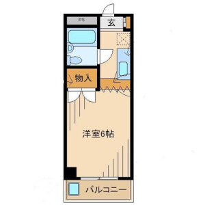 1K Mansion in Matsugi - Hachioji-shi Floorplan