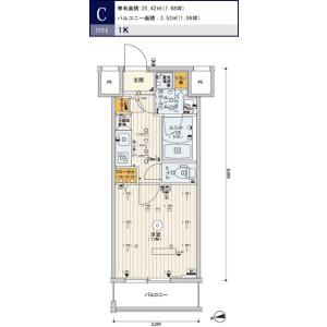 台東區松が谷-1K公寓大廈 房間格局