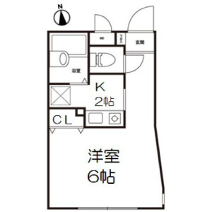 1K Mansion in Nakano - Nakano-ku Floorplan