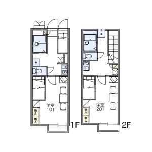 國分寺市戸倉-1K公寓 房間格局