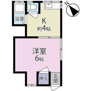 1K Apartment in Iwase - Matsudo-shi Floorplan