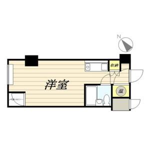 1R Mansion in Higashishimbashi - Minato-ku Floorplan