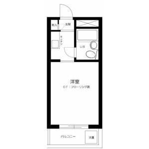 1R 맨션 in Kitaotsuka - Toshima-ku Floorplan