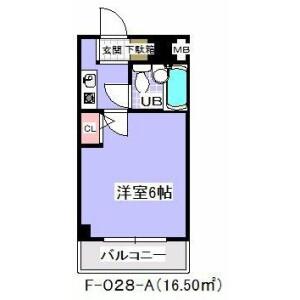 1K Mansion in Arai - Ichikawa-shi Floorplan