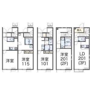 1LDK Apartment in Maenocho - Itabashi-ku Floorplan