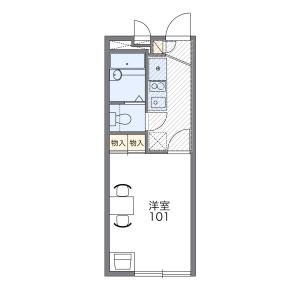 1K Apartment in Tatsunodai - Zama-shi Floorplan