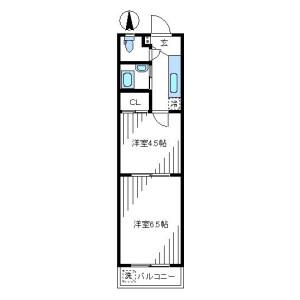 2K Mansion in Nakano - Nakano-ku Floorplan