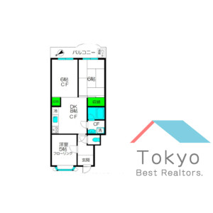 3DK Mansion in Higashinakano - Nakano-ku Floorplan