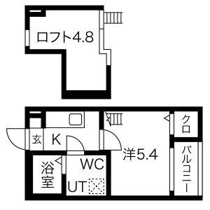 1K Apartment in Tsutsumicho - Nagoya-shi Minami-ku Floorplan