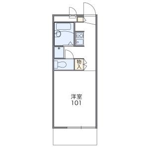 1K Mansion in Midoricho - Fuchu-shi Floorplan