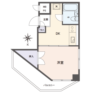 1DK {building type} in Nakamurakita - Nerima-ku Floorplan