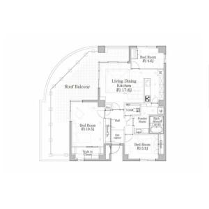 3LDK {building type} in Hatagaya - Shibuya-ku Floorplan