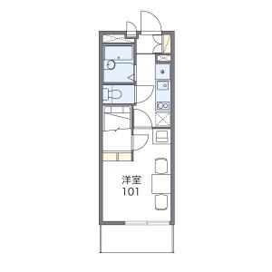 1K Apartment in Matsudo - Matsudo-shi Floorplan