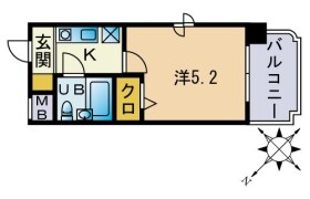 1K {building type} in Takeshita - Fukuoka-shi Hakata-ku