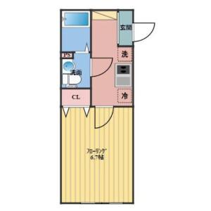 1K Apartment in Shibamata - Katsushika-ku Floorplan