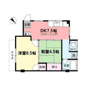 2DK 맨션 in Kitaotsuka - Toshima-ku Floorplan