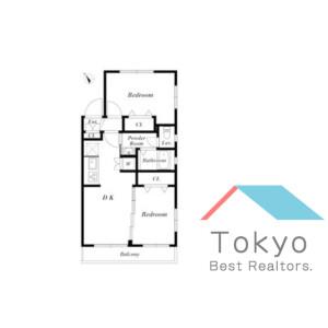 2DK Mansion in Higashinakano - Nakano-ku Floorplan