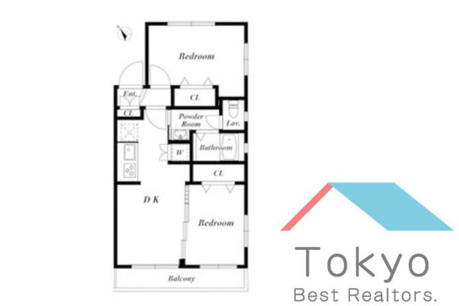 2DK Apartment to Rent in Nakano-ku Floorplan