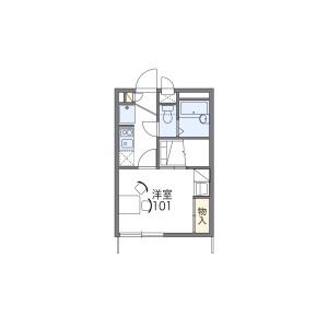 1K Apartment in Minamitanaka - Nerima-ku Floorplan