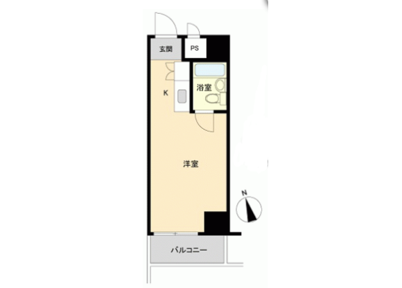 在台东区购买1R 公寓大厦的 楼层布局
