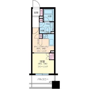 1DK Mansion in Ebisu - Shibuya-ku Floorplan