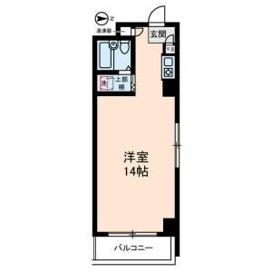 1R Mansion in Ojima - Koto-ku Floorplan
