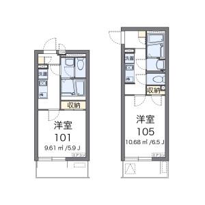 1K Apartment in Ikegami - Ota-ku Floorplan