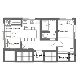 1LDK Mansion in Tabata - Kita-ku Floorplan