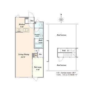 1LDK {building type} in Hatsudai - Shibuya-ku Floorplan