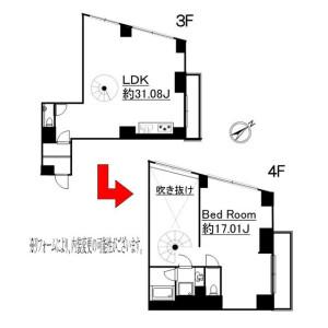 1LDK Mansion in Jingumae - Shibuya-ku Floorplan