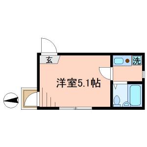 足立区日ノ出町-1K公寓 楼层布局