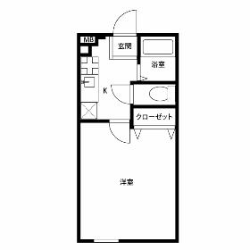1K Mansion in Kabemachi - Ome-shi Floorplan
