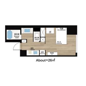 1K Mansion in Higashinakajima - Osaka-shi Higashiyodogawa-ku Floorplan