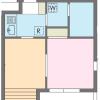在涩谷区内租赁2K 公寓大厦 的 楼层布局