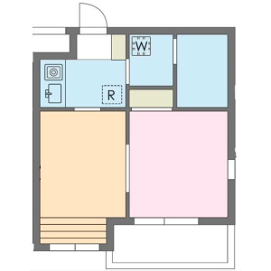 涩谷区広尾-2K公寓大厦 楼层布局
