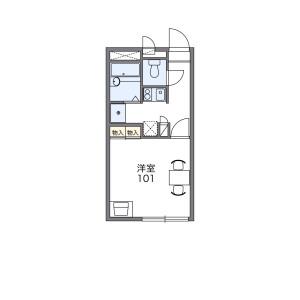 1K Apartment in Hirakatacho - Nagahama-shi Floorplan