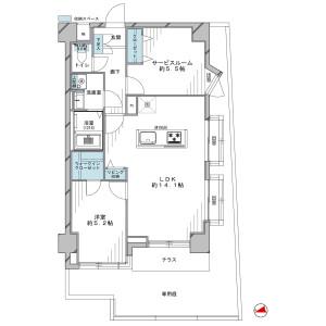 1SLDK {building type} in Toyotamaminami - Nerima-ku Floorplan
