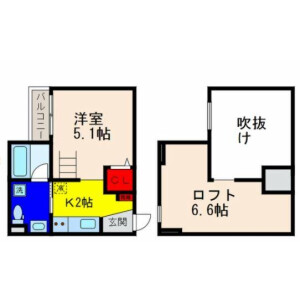 1K Mansion in Kashita nishi - Higashiosaka-shi Floorplan