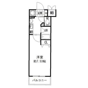 1K Mansion in Uemachi - Osaka-shi Chuo-ku Floorplan
