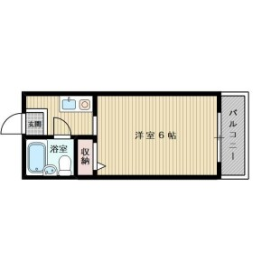 1R Mansion in Komatsu - Osaka-shi Higashiyodogawa-ku Floorplan