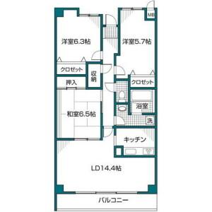 3LDK Mansion in Sandamachi - Hachioji-shi Floorplan