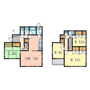 4LDK Terrace house in Shonantakatori - Yokosuka-shi Floorplan