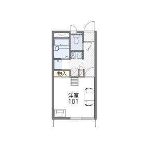 1K Apartment in Harubuncho - Sasebo-shi Floorplan