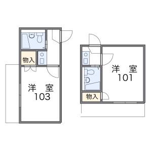 1K Mansion in Tarumachi - Yokohama-shi Kohoku-ku Floorplan
