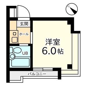 1K Mansion in Minamioi - Shinagawa-ku Floorplan