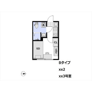 1K Apartment in Tenjincho - Shinjuku-ku Floorplan